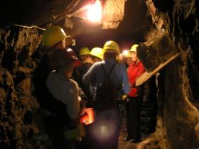 Tour group in tunnel