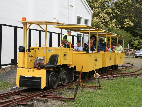 Loading Passengers for a Trip on Tramway